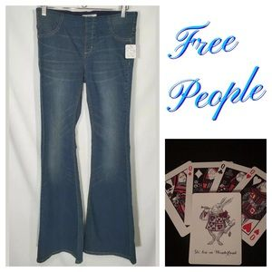 Free People Penny Pull On Flare Jeans 29x34 Tall